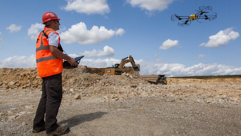 Worker controlling UAV