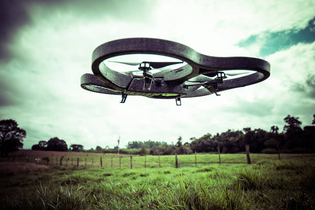 Quadcopter in a field